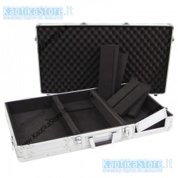 ROADINGER Flightcase per il trasporto di lettore CDJ Universal console DIGI-1 2xCD/1xM-10 silver