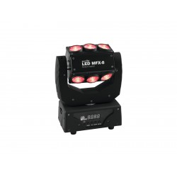 EUROLITE LED MFX-8 Action Barrel testa mobile movimento TILT illimitato effetto beam 9 x 10W QCL