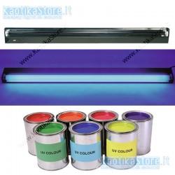 Showtec Lampada UV 120cm con plafoniera a griglia