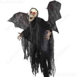 Halloween Pipistrello teschio spettrale