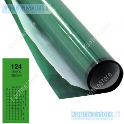 Gelatina VERDE SCURO 122x50cm per fari PAR filtri colorati foglio colore