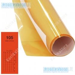 Gelatina ARANCIO ORANGE 61x50cm colore per fari PAR filtri colorati foglio colorato