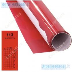 Gelatina MAGENTA 61x50cm colore per fari PAR filtri colorati foglio colorato