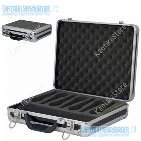 Dap Audio Flightcase per trasporto di 7 microfoni valigetta porta palmare