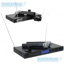 Omnitronic VHF-450 Wireless mic set radiomicrofono 2 canali wireless microphone system