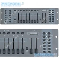 Centralina DMX Showtec SM-8/2 controller luci banco regia effetti luce scanne testa mobile