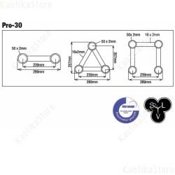 Showtec Truss quadrangolare PRO-30 GT dritto americana supporto luci traliccio palco live arredamento quadrato