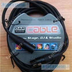 Cavo XLR 3 poli varie misure microfonico/segnale di linea adattabile/ segnali DMX