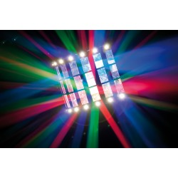 43156 Showtec Techno Derby 2-in-1 luce led + strobo 43156 ean 8717748365989 luce discoteca derby strobo led rgb color