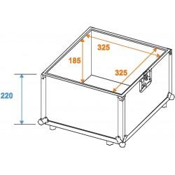Flightcase Roadinger Record Case Pro ALU 50/50, 100LP valigia rigida porta dischi vinile dj 30110025 ean 4026397398892