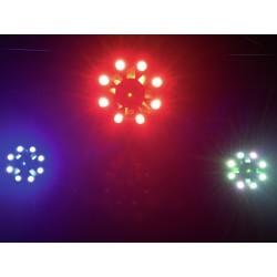 51741083 Eurolite FE-1750 Effetto 4-in-1 LASER derby wash RGBA/UV luce discoteca dj ean 4026397642773