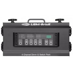50370 Showtec Lightbrick dimmer controller centralina luci piccolo banco regia fari PAR faro teatrale ean 8717748017376