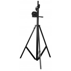 Showtec palo Wind-Up Lightstand 4 m palo wind-up treppiede con argano
