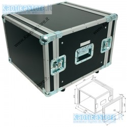 ROADINGER Flightcase  8HE doppia porta per trasporto e protezione merce