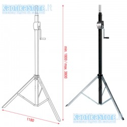 Showtec Mini T bar supporto per truss regolabile 400mm