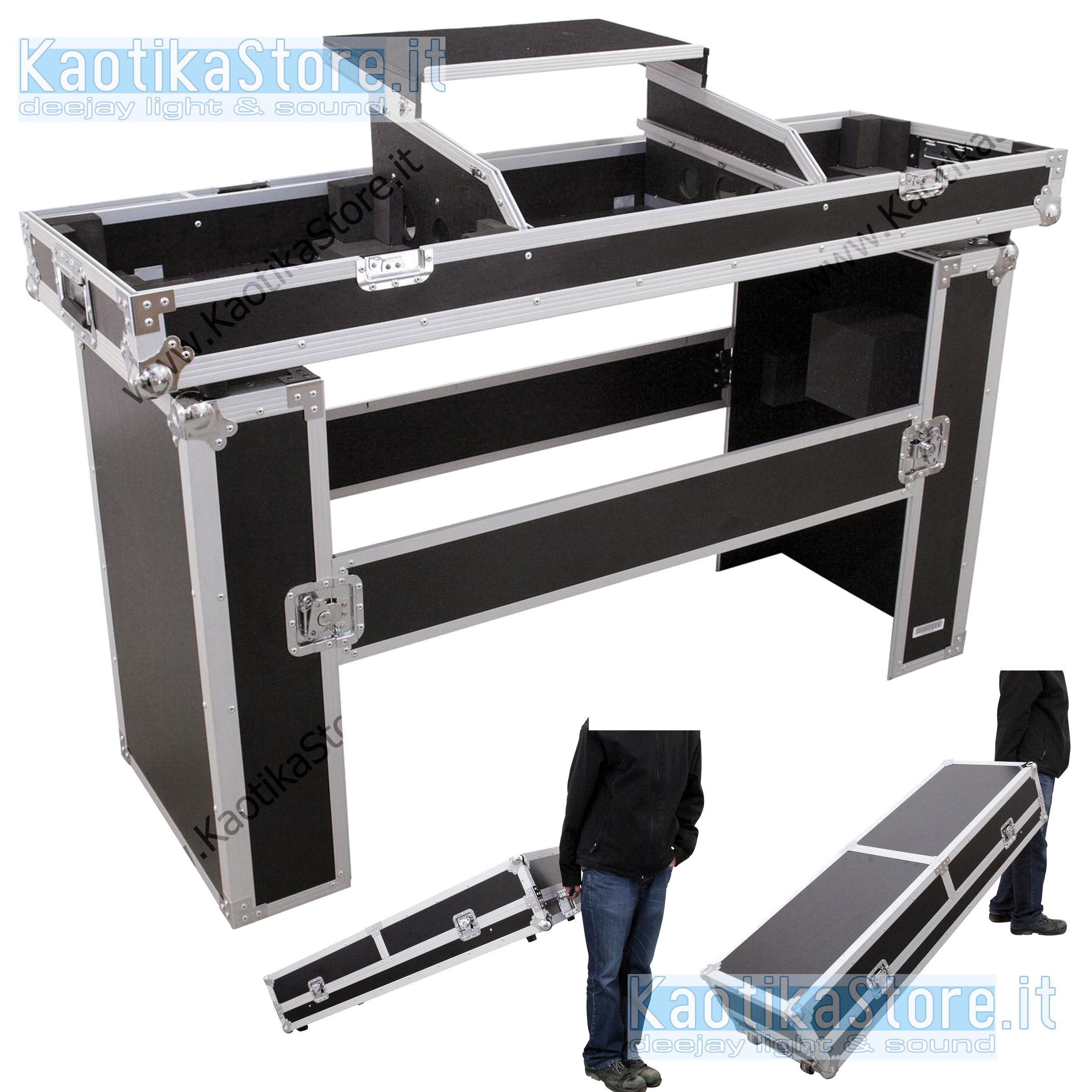 flightcase mobile dj valigia trasporto consolle cdj piatti. Black Bedroom Furniture Sets. Home Design Ideas