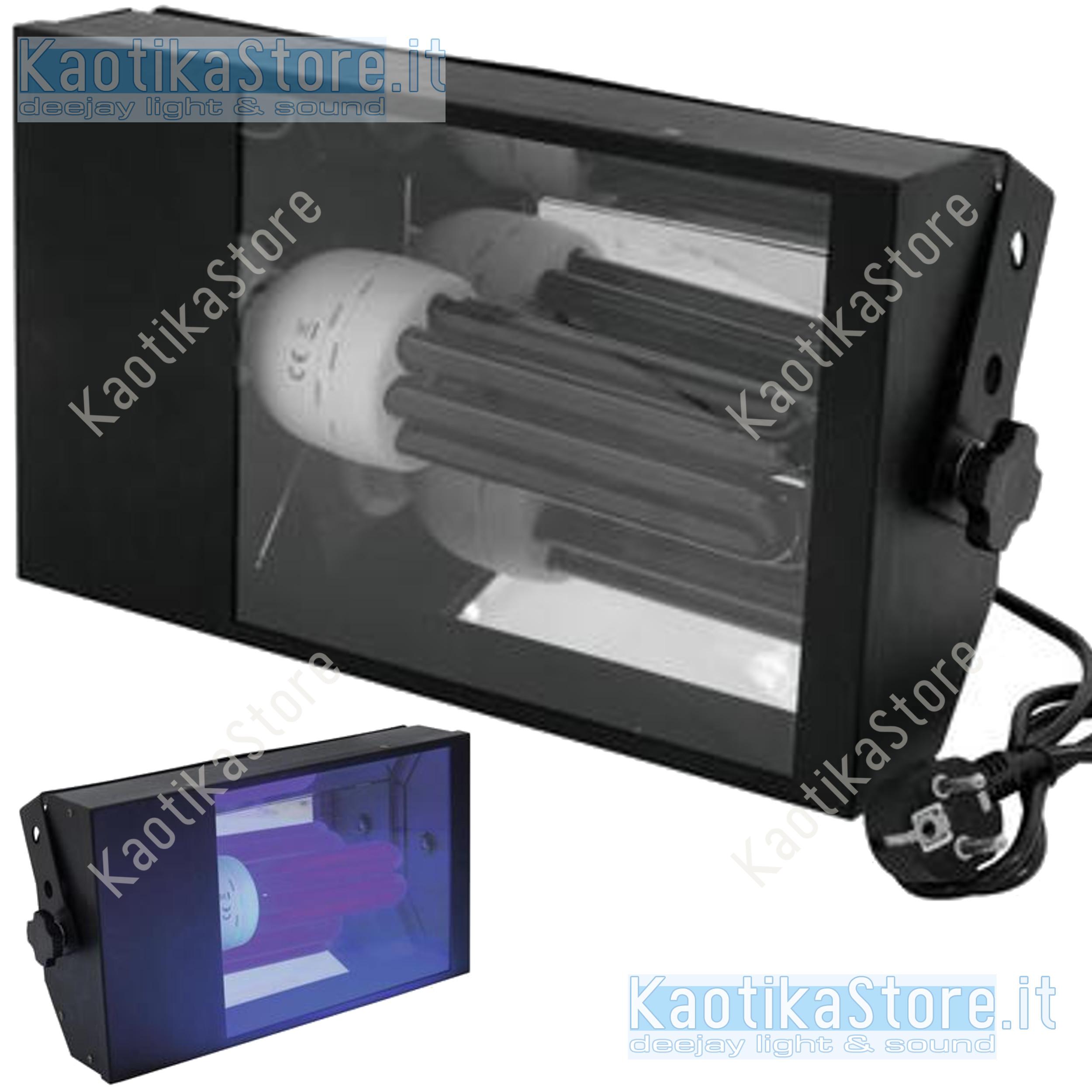 LAMPADINA LAMPADA WOOD BLACK ATTACCO E27 25W EFFETTO WOOD REAGENTE UV BIANCO